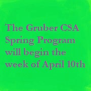 Gruber CSA Farm - A Family owned and operated CSA farm
